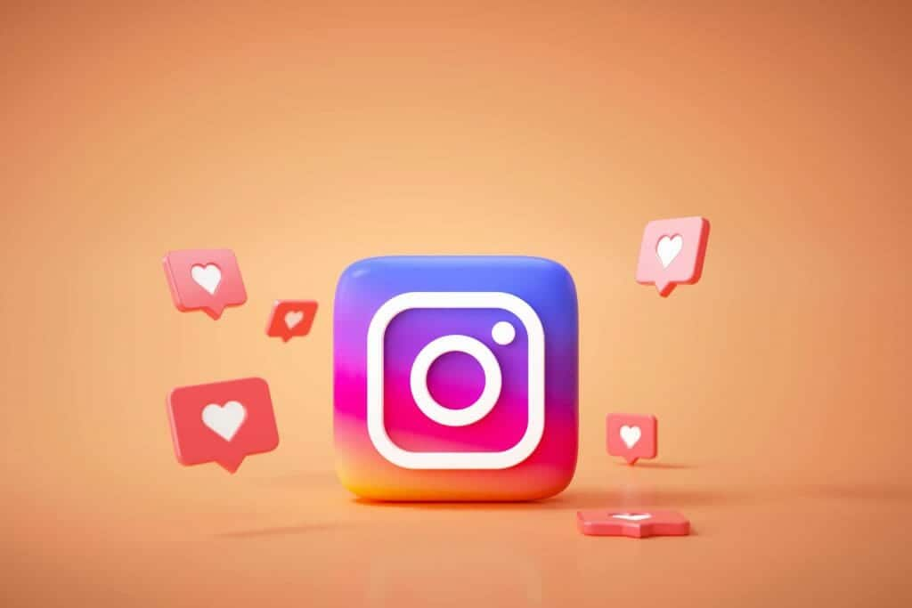 3d instagram application logo background instagram social media platform scaled