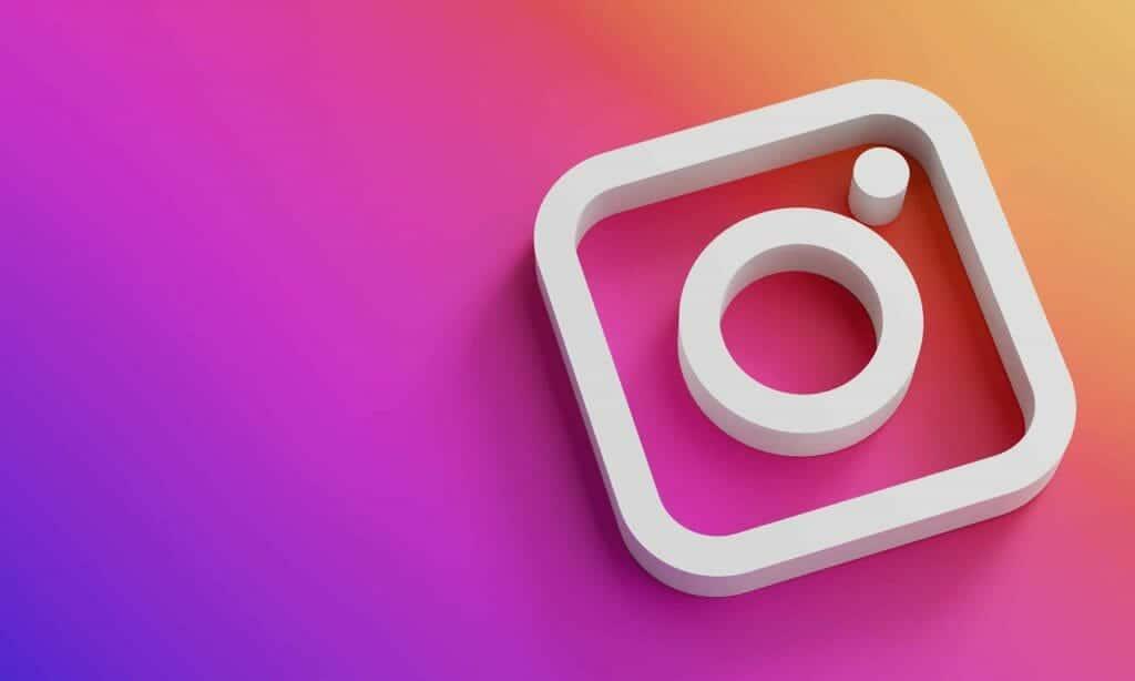 instagram logo minimal simple design template copy space 3d scaled