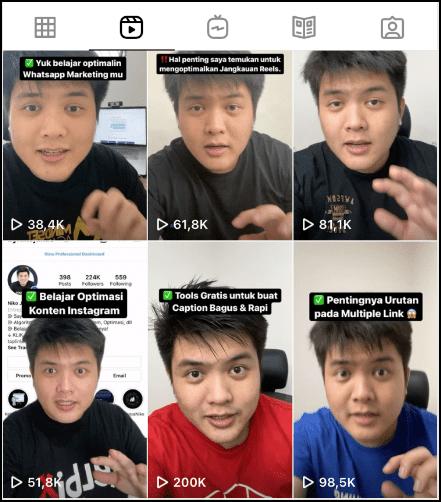 instagram reels untuk bisnis