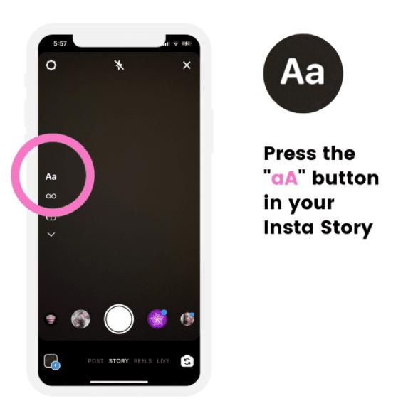 Press Aa button