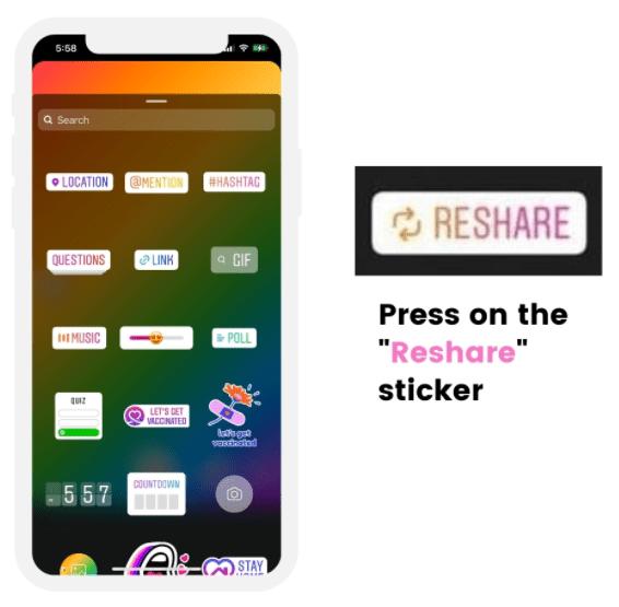 press reshare sticker